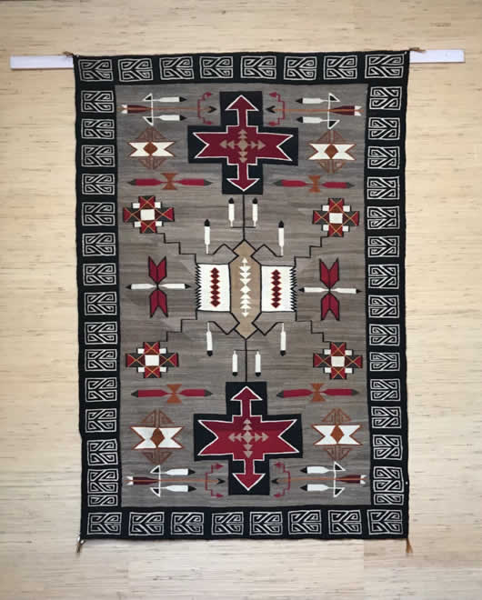 Teec Nos Pos with Red Mesa Influence Navajo Rug 1144