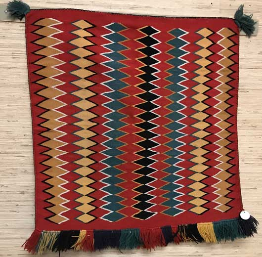 Featured Image of Germantown Navajo Single Saddle Blanket Sunday Saddle 1150 * Charley's Navajo Rugs for Sale